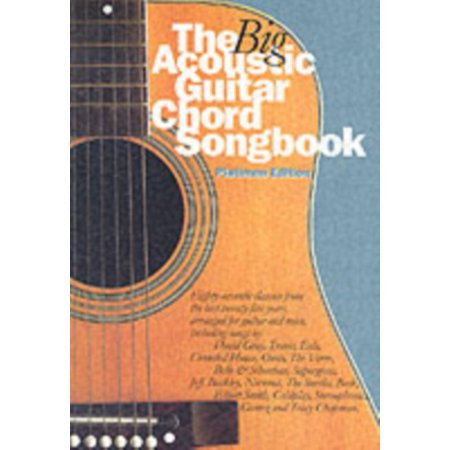 Guitar Chord Songbook Book - The Big Acoustic Guitar Chord Songbook: Platinum Edition (Paperback)