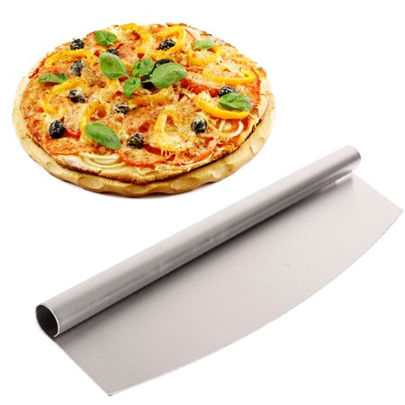 Meigar Stainless Steel Pizza Cutter 14 inch Blade Rocker Style Professional Slicer,Best Way To Cut Pizzas And