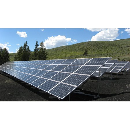 Laminated Poster Sun Solar Panel Array Power Electricity Energy Poster Print 24 X 36
