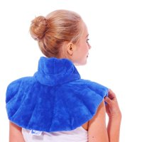 Huggaroo Neck and Shoulder Wrap - Microwavable Heating Pad with Aromatherapy, HNWS1B