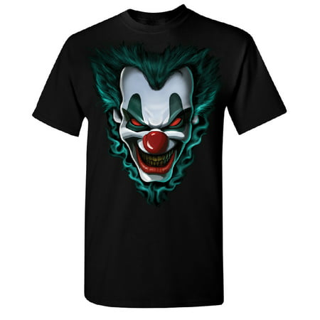 Psycho Clown Joker Face Men's T-shirt Funny Halloween 2017 Costume Tee Black Small (Proud Halloween 2017)