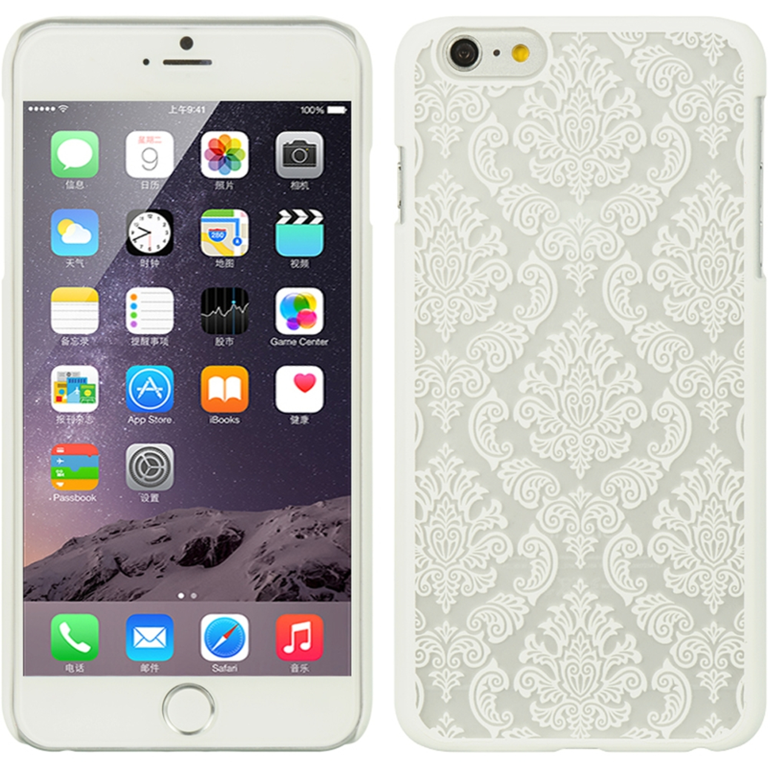iPhone 6s Plus, iPhone 6 Plus Case, by Insten Lace Rubberized Hard Snap-in Case Cover For Apple iPhone 6 Plus