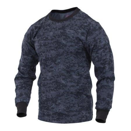 Digital Dudz Shirt (Rothco Long Sleeve Digital Camouflage T-Shirt, Midnite Digital)