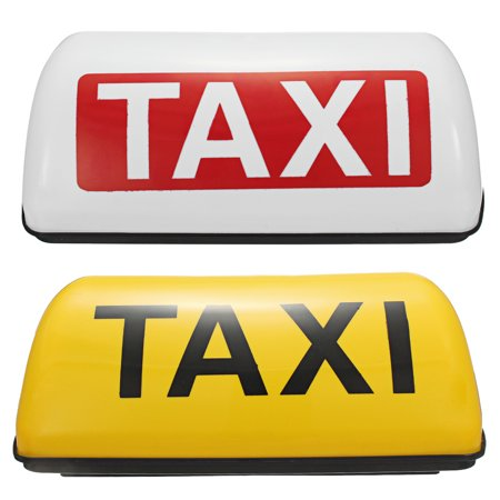 Car Truck Taxi Cab Sign Roof Dome LED Light Lamp Shell Magnetic taxi Base 12V Yellow / White