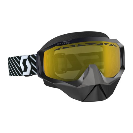 Scott Hustle X Snowcross Goggles Black/White/Yellow