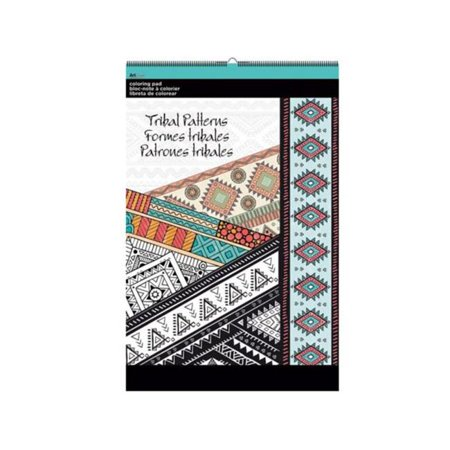 Kole Imports OT763-32 11 x 17 in. Tribal Patterns Large Coloring Pad - Pack of 32 - image 1 de 1
