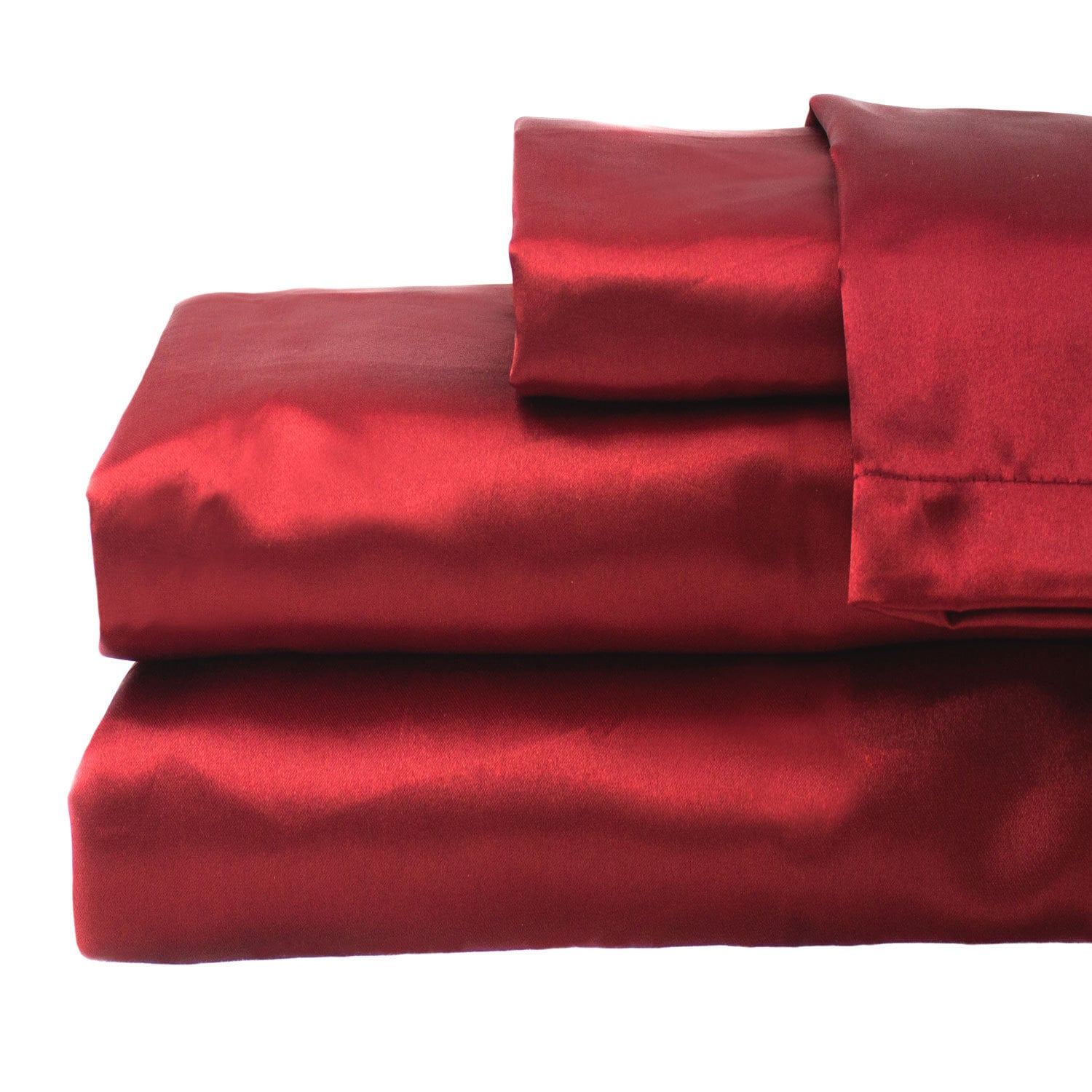 Cozy Fleece LLC Hotel Collection Satin Solid Color Sheet Set