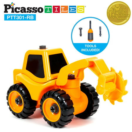 PicassoTiles PTT301-RB Educational Constructible DIY Take-A-Part Roller Blade Truck Set