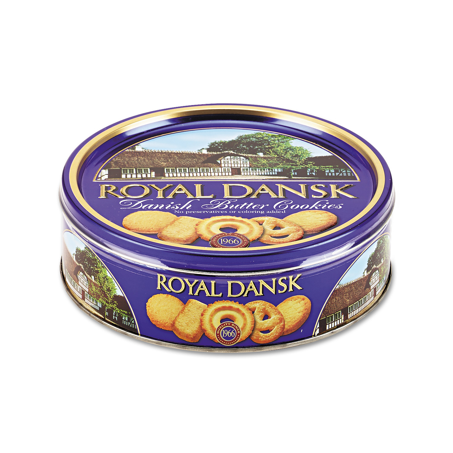 Royal Dansk Cookies, Danish Butter, 12oz Tin