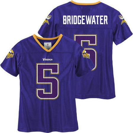 b242db150 NFL Minnesota Vikings Girls Teddy Bridgewater Jersey - Walmart.com