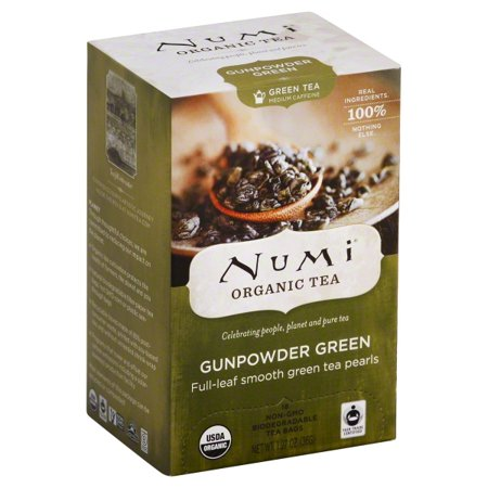 Numi Gunpowder Green Organic Tea Bags, 18 count, 1.27 oz