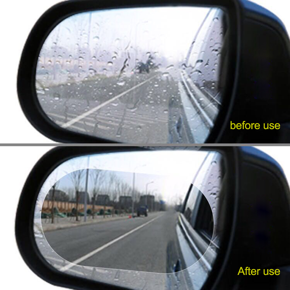 Anti-Fog Anti-Glare Anti-Scratch Rainproof Rear View Mirror Window Clear Nano Film Hd Car Mirror Accessories Clean Clear Side Window Clean protective Film Car Rearview Mirror Film