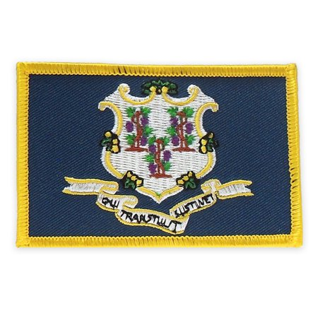 PinMart's Embroidered US State Flag Patch- Connecticut Flag