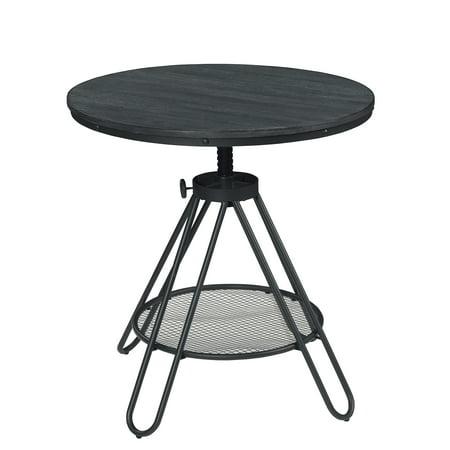 Adjustable Height Round Table.Cirrus Dining Room Round Table With Adjustable Height