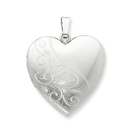 Scroll Heart - Sterling Silver 24mm Scrolled Heart Family Locket