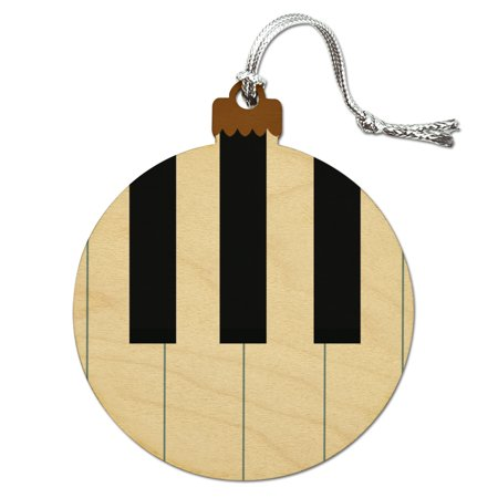Piano Keys Keyboard Pianist Music Wood Christmas Tree Holiday Ornament - Music Holiday Decor