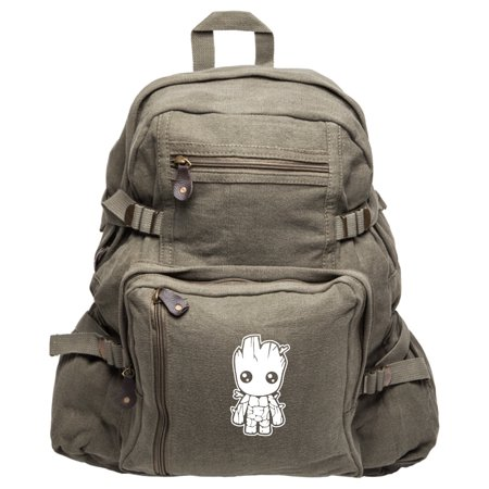 grab a smile baby groot guardians of the galaxy heavyweight canvas backpack
