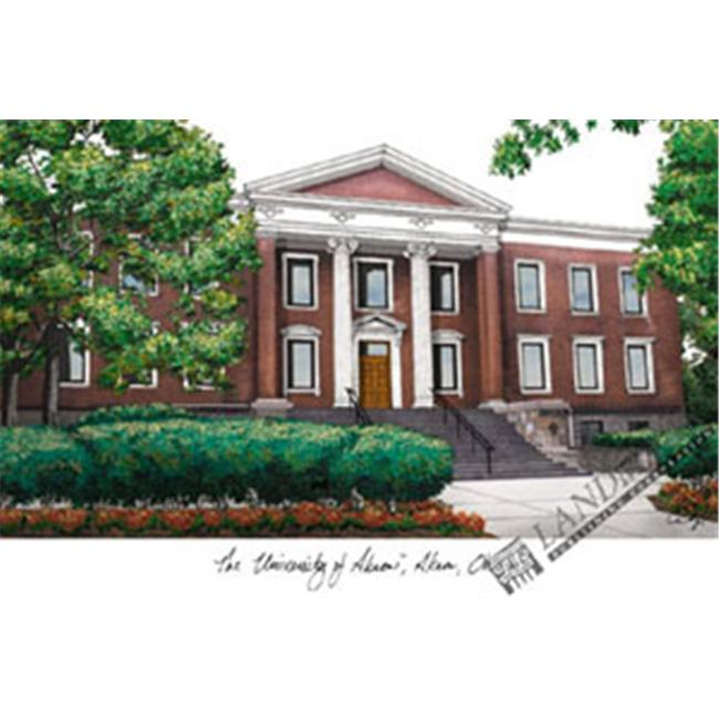 University of Akron  University Campus Images Lithograph Print - image 1 of 1