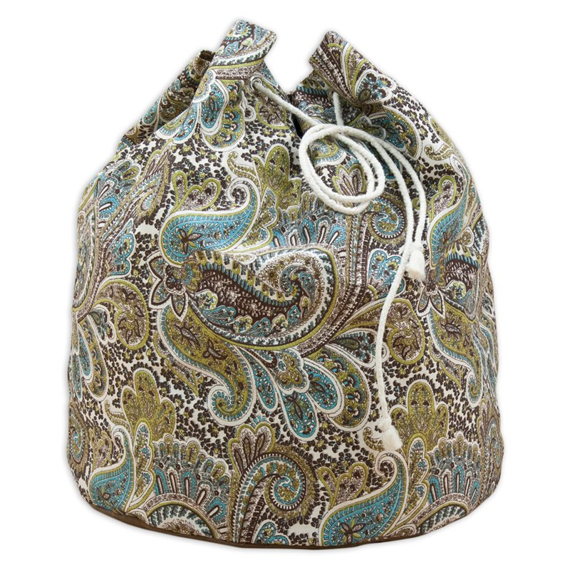Brite Ideas Living Paisley Round Laundry Bag with 4 Grommets
