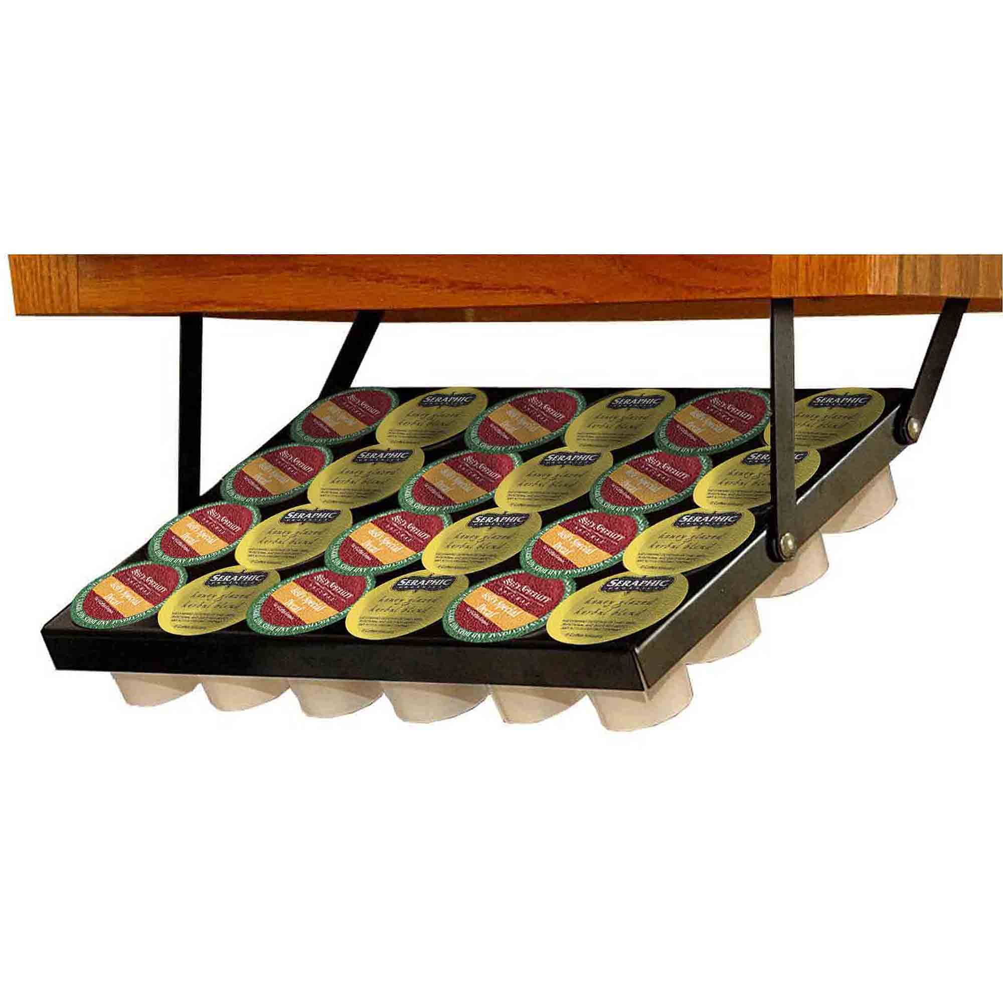 Coffee Keeper Elite K Cup Under Cabinet Storage Rack Walmart
