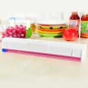 Jeobest Plastic Wrap Dispenser - Food Wrap Dispenser - Home Kitchen Plastic Small Film Wrap Cling Dispenser Food Storage Holder Cutter MZ(Not include the plastic