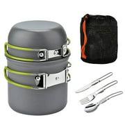Jianama Outdoor Camping Cookware Pot Set Portable 1-2 Person Picnic Kitchenware