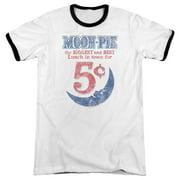 Moon Pie Lunch Munch Mens Adult Heather Ringer Shirt