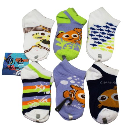 Disney Pixar's Finding Nemo Socks Shoe Size 7-10 toddler (3 Random Design - Disney Shoes