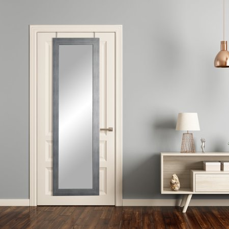 BrandtWorks Cool Muted Silver Over the Door Full Length Mirror - 21.5W x 71H - Mirror Silver Halloween Contact Lenses