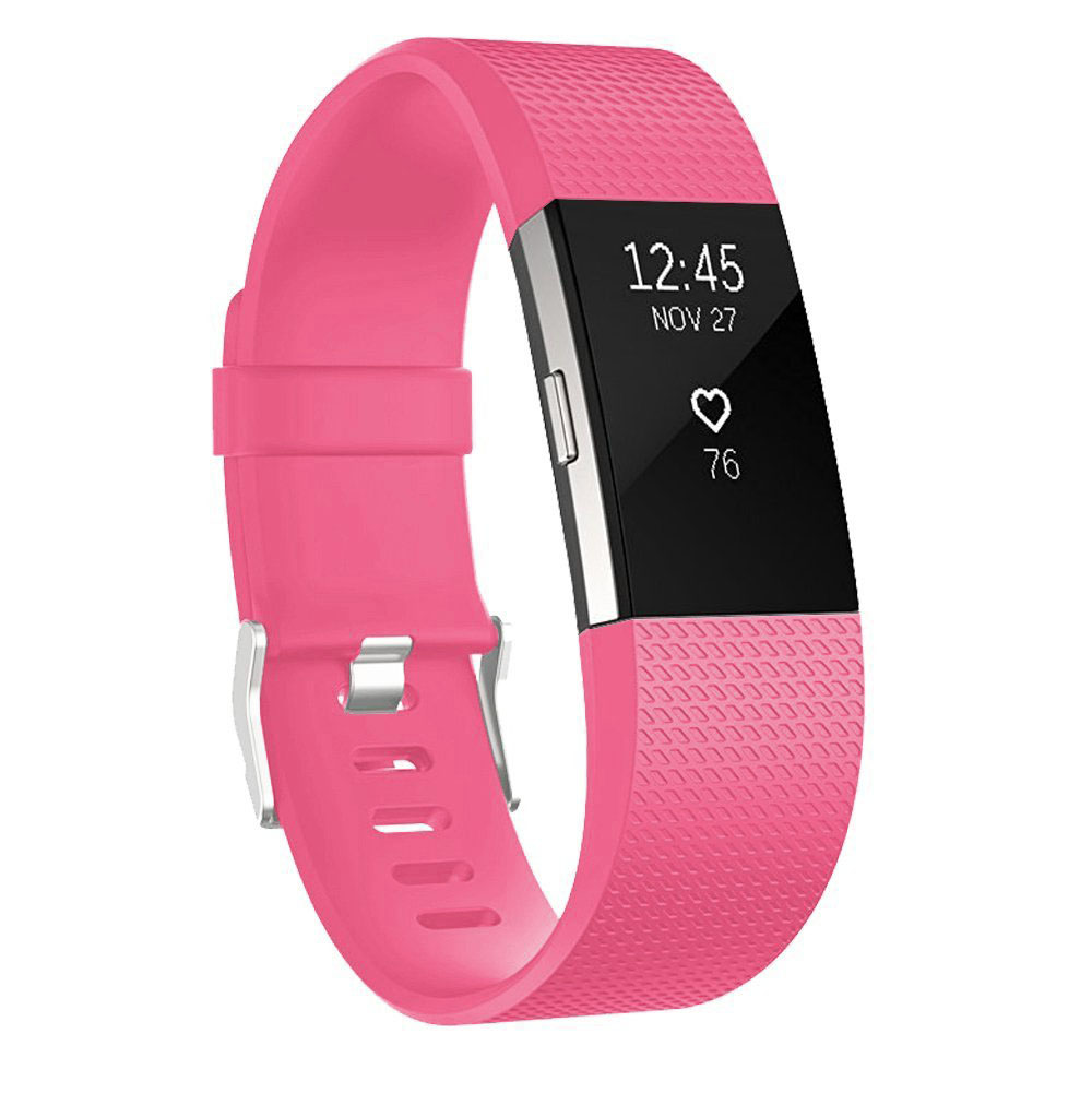 For Fitbit Charge 2 Band, EEEKit Adjustable Replacement Soft Silicone Wrist Strap with Secure Metal Buckle Clasp Large Size for Fitbit Charge 2 Heart Rate