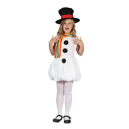 Bristol Novelty Childrens/Girls Snowman Costume - image 1 of 1