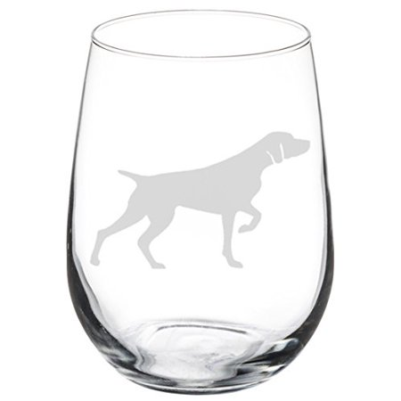Wine Glass Goblet German Shorthaired Pointer (17 oz Stemless)