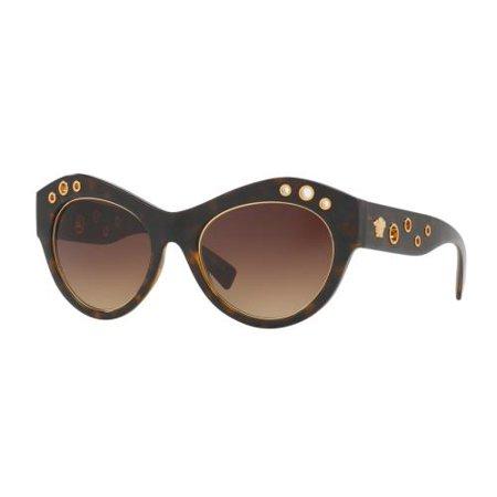 188880c6ab0c VERSACE - VERSACE Sunglasses VE4320 108 13 Havana 54MM - Walmart.com