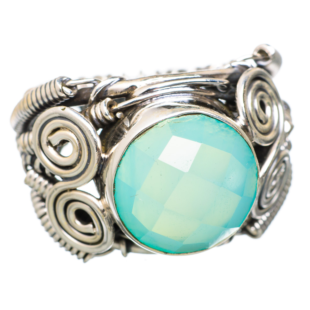 Ana Silver Co Aqua Chalcedony 925 Sterling Silver Ring Size 6 RING825210 by Ana Silver Co.
