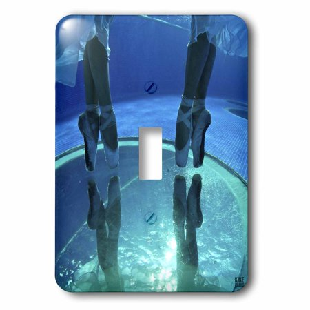 3dRose Ballerinas dancing underwater in a swimming pool 2, Single Toggle - Ballerina Single