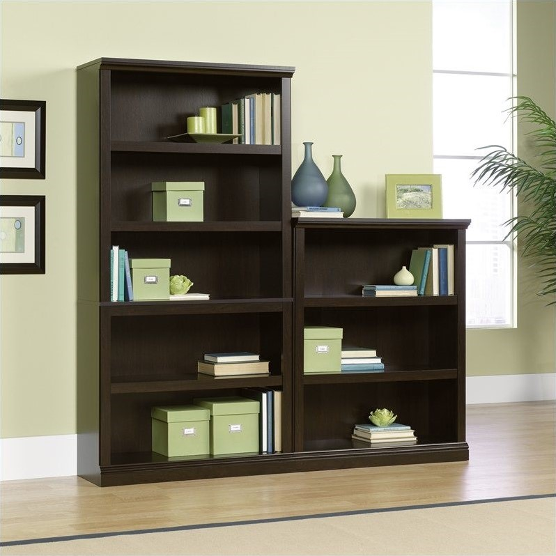 Sauder Select Wall Bookcase in Jamocha Wood