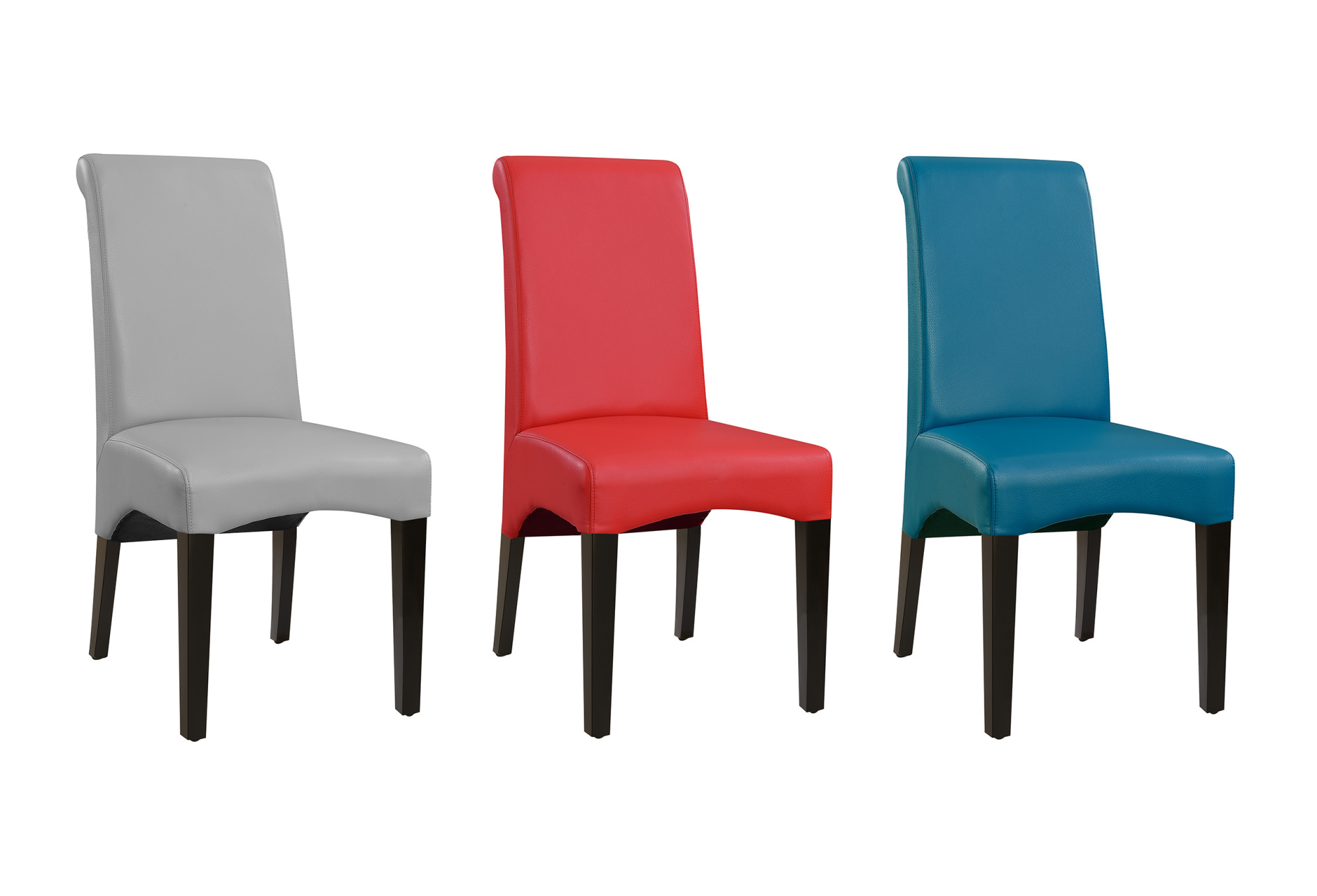 Picture of: Emerald Home Briar Ii Teal Blue Upholstered Dining Chair With Faux Leather Upholstery And Curved Back Set Of Two Walmart Com Walmart Com