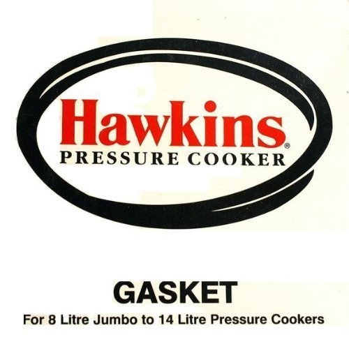 Hawkins D10-09 Pressure Cooker Gasket for 8-Liter Jumbo/10-Liter/12-Liter/14-Liter, Black