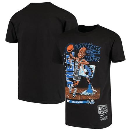 Shaquille O'Neal Orlando Magic Mitchell & Ness Youth Salem Modern Classics T-Shirt - Black (Sport Shop Orlando)