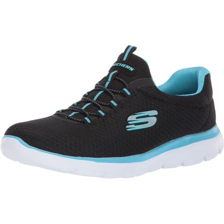 Skechers Sport Women's Summits Sneaker,black/turquoise,5.5 W US - image 1 of 1