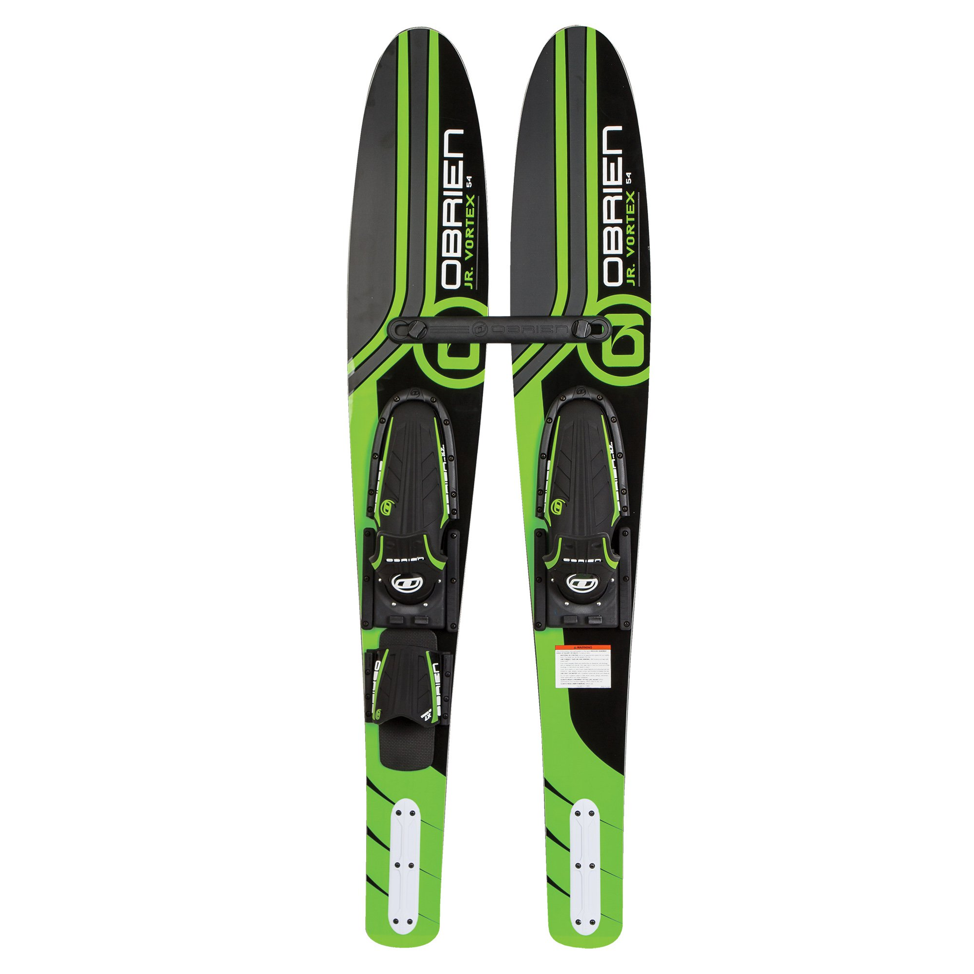 "OBrien 54"" Jr. Vortex Combo Water Skis with X7 Bindings for Kids 2-Mens 7, Green by O'Brien Watersports"