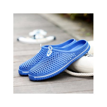 1 Pair Unisex Slippers Round Toe PVC Casual Shoes Fashion Slipper For Daily Beach Indoor Outdoor