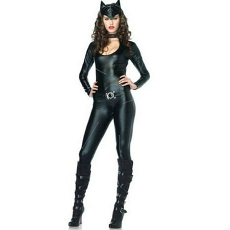 Leg Avenue Women's Sexy Femme Fatale Cat Villain Costume - Villain Couple Costumes