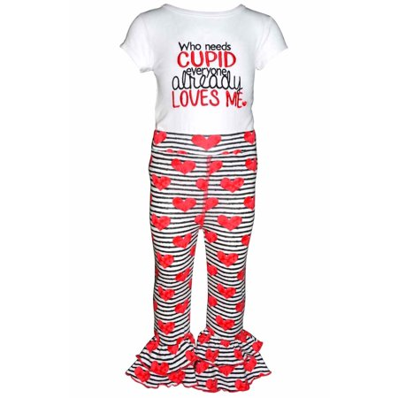 "Unique Baby Girls ""Who Needs Cupid"" Valentine's Day Outfit (2t) - Cindy Lou Who Outfit"