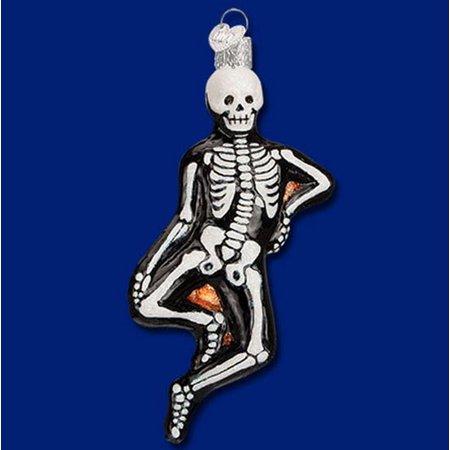 Old World Christmas Mr Bones Skeleton Glass Halloween Ornament FREE BOX](Old World Market Halloween)
