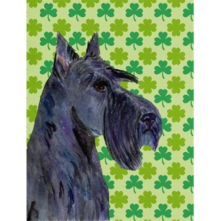 11 x 15 in. Scottish Terrier St. Patricks Day Shamrock Portrait Flag Garden Size