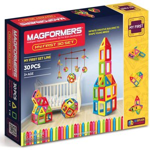 MAGFORMERS My First 30-Piece Magnetic Construction Set