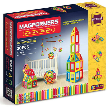 Magformers My First Set Multicolor Magnetic Tiles 30