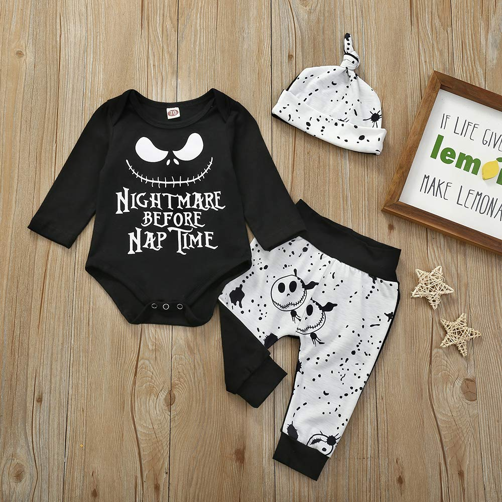 The Nightmare Before Christmas Bodysuit Romper Outfit Shirt Set Before Naptime