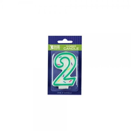 Oasis Supply Number 2 Sprinkle Birthday Candles 3 Inch